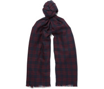 Windowpane-checked Virgin Wool Scarf