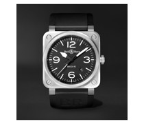 BR 03-92 Automatic 42mm Stainless Steel and Rubber Watch
