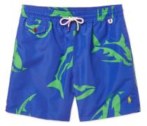 Traveler Mid-length Shark-print Swim Shorts