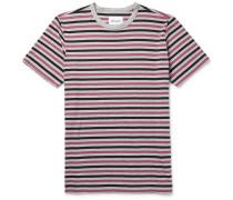 Mélange Striped Cotton-jersey T-shirt