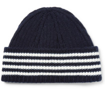 Striped Cashmere Beanie