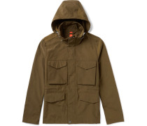 Cotton-blend Hooded Field Jacket