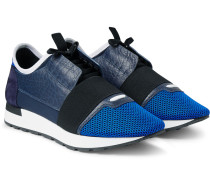 Panelled Leather, Mesh And Neoprene Sneakers