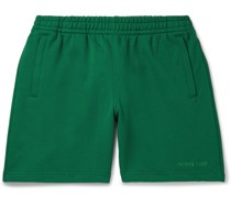 + Pharrell Williams Embroidered French Cotton-Terry Shorts