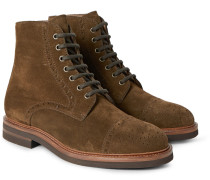 Suede Brogue Boots