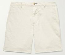 Tradewinds Slim-Fit Mélange Slub Linen-Blend Shorts