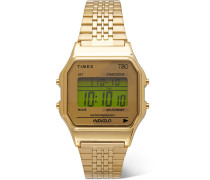 T80 34mm Gold-Tone Stainless Steel Digital Watch