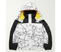 BB Himalayan Printed Quilted Ripstop Hooded Down Jacket