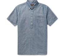 Button-Down Collar Cotton-Chambray Shirt