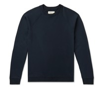 Rivet Garment-Dyed Loopback Cotton-Jersey Sweatshirt