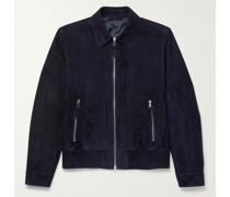 Suede Blouson Jacket