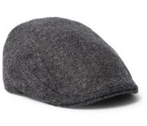 Wool-Tweed Flat Cap