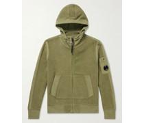 Cotton-Blend Fleece Zip-Up Hoodie