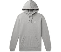 Logo-Embroidered Mélange Loopback Cotton-Jersey Hoodie