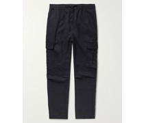 Jay Garment-Dyed Lyocell Drawstring Trousers