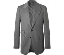 Shelton Slim-Fit Herringbone Wool and Silk-Blend Suit Jacket