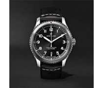 Navitimer 8 Automatic 41mm Steel and Leather Watch, Ref. No. A17314101B1X1
