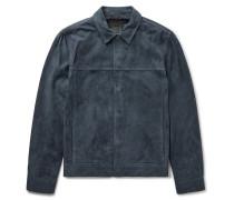 Jamie Suede Trucker Jacket