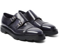William Ii Leather Monk-strap Shoes