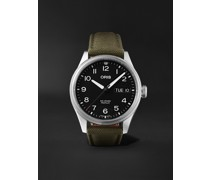 Big Crown ProPilot Big Day Date Automatic 44mm Stainless Steel and Canvas Watch, Ref. No. 01 752 7760 4065-07 3 22 05LC