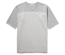 Trainer Striped Cotton-jersey T-shirt