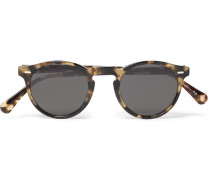 Gregory Peck Round-frame Tortoiseshell Acetate Sunglasse