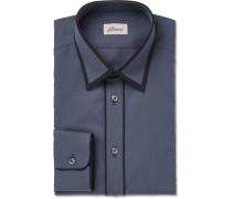 Contrast-tipped Cotton-poplin Shirt