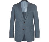 Seishin Slim-fit Mélange Stretch-wool Suit Jacket