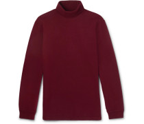 Cotton-jersey Rollneck T-shirt