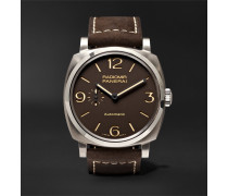 Radiomir 1940 3 Days Automatic Titanio 45mm Titanium And Leather Watch