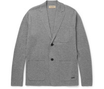 London Slim-fit Wool And Cashmere-blend Cardigan