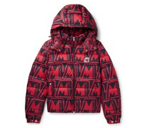 Frioland Slim-Fit Logo-Print Quilted Shell Down Hooded Jacket