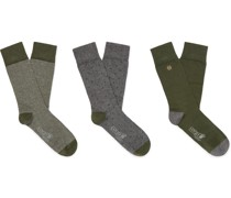 + Corgi Three-Pack Cotton-Blend Socks