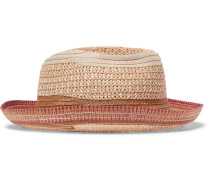 Contrast-trimmed Straw Panama Hat