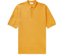 Textured Linen and Cotton-Blend Polo Shirt