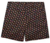 Clove Floral-print Cotton Shorts