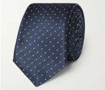7cm Pin-Dot Silk-Faille Tie