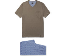 Cotton-jersey Pyjama Set