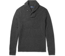 Shawl-collar Wool And Cashmere-blend Sweater