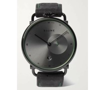 41mm PVD-Coated Stainless Steel and Cork Watch, Ref. No. 10599