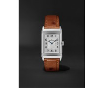 Reverso Classic Medium Thin Hand-Wound 24.4mm Stainless Steel and Ostrich Watch, Ref. No. Q2548441