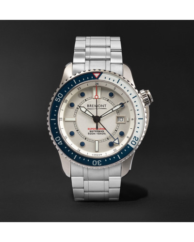 Supermarine Waterman Limited Edition Automatic 43mm Stainless Steel And Kevlar Watch - White
