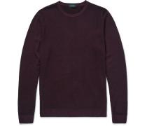 Waffle-knit Wool Sweater