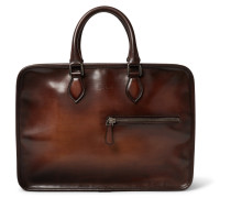 Un Jour Polished-leather Briefcase