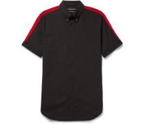 Slim-fit Button-down Collar Stretch-cotton Poplin Shirt