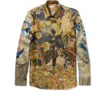 Slim-fit Printed Satin Shirt