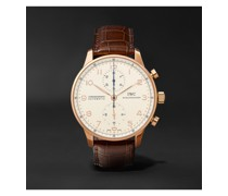 Portugieser Automatic Chronograph 40.9mm 18-Karat Red Gold and Alligator Watch, Ref. No. IW371480