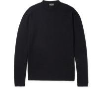 Honeycomb Textured Wool-blend Sweater