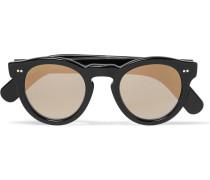 Round-frame Acetate Mirrored Sunglasses