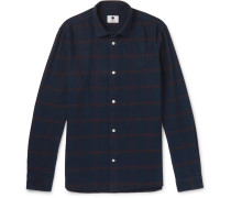 Alberto Checked Brushed Cotton-flannel Shirt